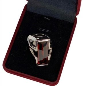 PARK LANE 💫NWT💫 Ruby/Silver-Tone Ring Size 10